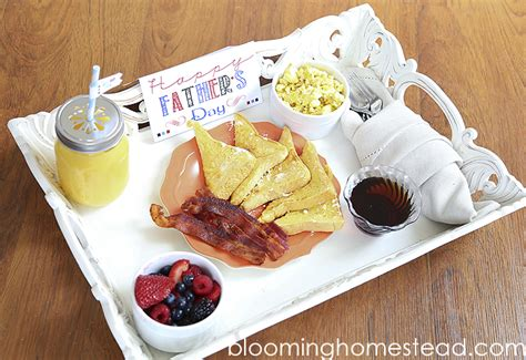 father s day breakfast with printable blooming homestead