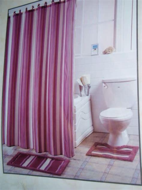 fabric shower curtain sets 15 pc bath mauve fabric shower curtain rug hooks set