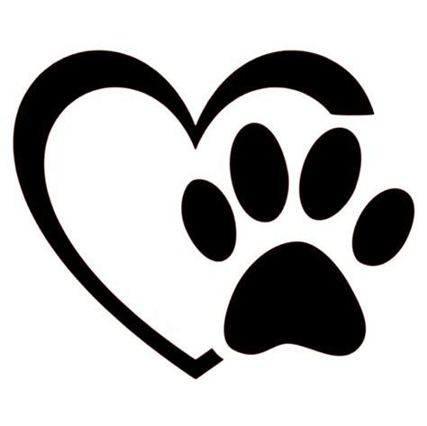 Herz Aufkleber by Aufkleber Herz Mit Pfote Mipa S Petshop