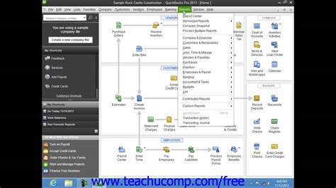 tutorial quickbooks pro quickbooks pro 2013 tutorial financial reports intuit