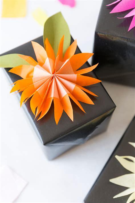 diy paper tissue flower gift topper