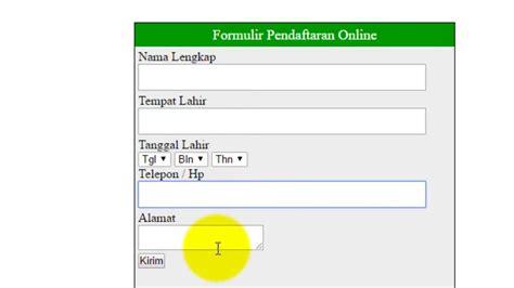 membuat kuesioner dengan php dan mysql tutorial mudah membuat form register dengan php dan mysql