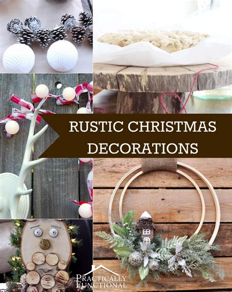 10 diy rustic christmas decorations