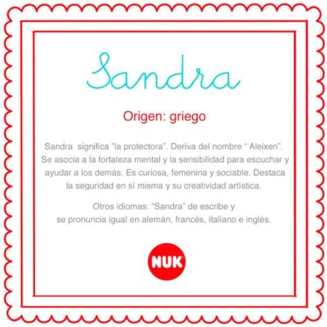 El Significado De Nombre Sandra | origen y significado de sandra http bebesnuk com nombre