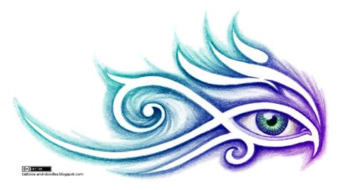 eye of horus tribal tattoo tattoos and doodles tribal eye