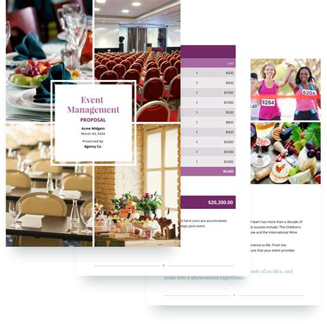 Event Management Proposal Template Free Sle Event Management Flyers Templates