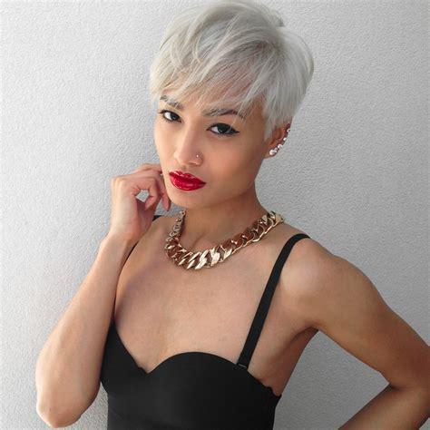 platinum blond pixie beauty micah gianneli