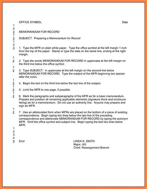 army memo for record template 9 memorandum for record army marital settlements