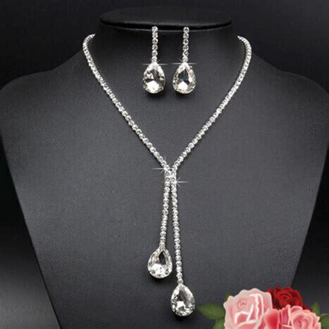 Rhinestone Necklace Earring fashion rhinestone necklace earrings charm new set