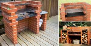 how to build a backyard grill simple diy brick bbq project diy cozy home