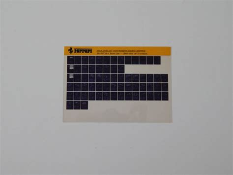 Spare Part Daytona 365 gtb 4 daytona spare parts microfiche classic parts