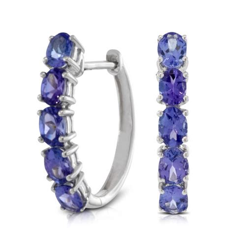 tanzanite hoop earrings 14k ben bridge jeweler