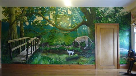 the wall mural nature wall mural paintings images