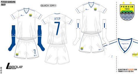 Baju Persib Tangan Panjang Warna Putih Original One Blue persib bandung 15 16 home away kits league alakazzam kit design