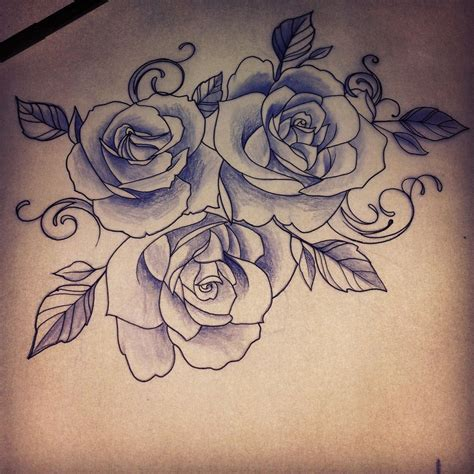 creative tattoos rose drawing tattoo