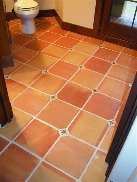 terracotta bathroom floor tiles 12x12 traditional terra cotta tiles with a 2x2 insert cut