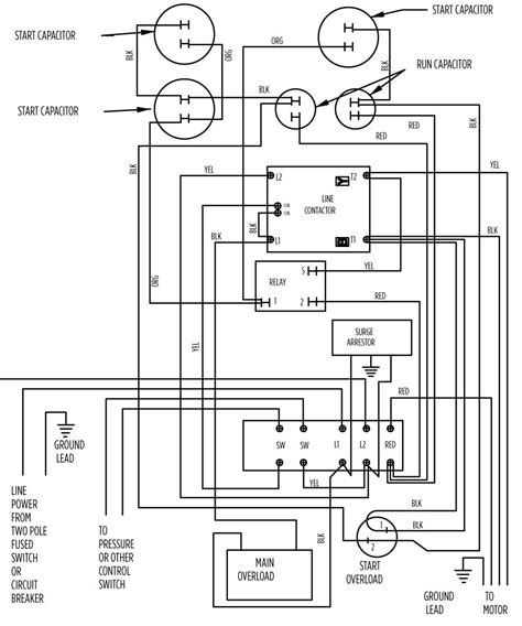 electric water well pressure switch diagram timer and