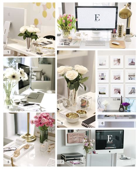 how to decorate your desk at home white gold desk decor shannon did what