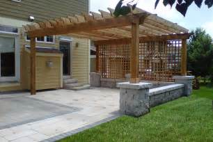 Patios With Pergolas by Patio Designs With Pergola Images