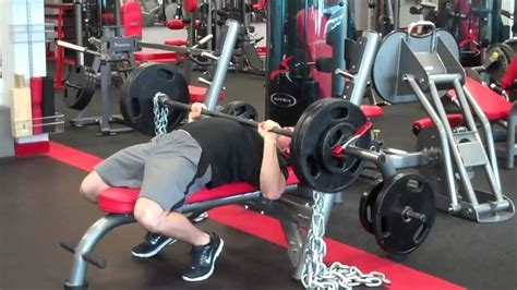 chain bench press bench press with chains youtube