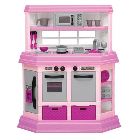 Kitchen Set Pink american plastic toys custom kitchen pink play kitchens at hayneedle