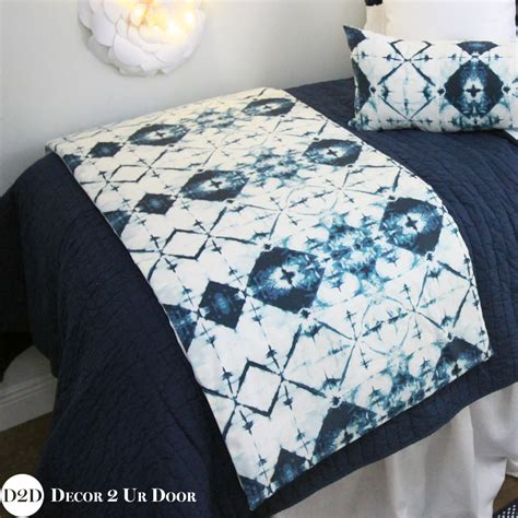 white and navy bedding navy white ombre tribal dorm bed scarf custom design