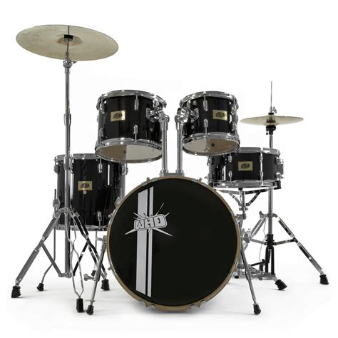 swing drummers whd 5 piece swing drum kit black cymbal pack at