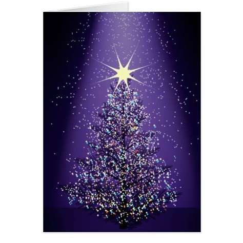 purple christmas tree greeting card zazzle