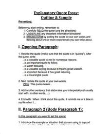 Exle Of Explanatory Essay by 26 Exles Of Essay Outlines