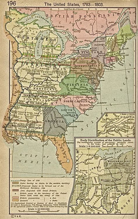 the united states 1783 1803 historical map united