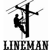 Lineman Electrician Power Woker Man Car Truck Window Laptop Vinyl