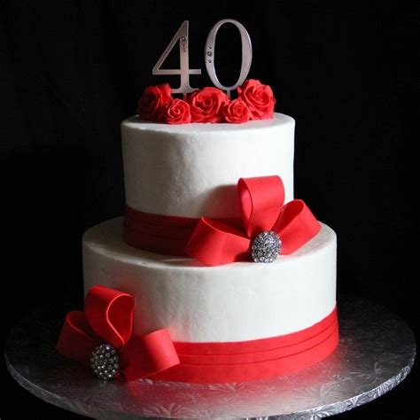 best 25 40th anniversary cakes ideas on diy 40th wedding anniversary decorations