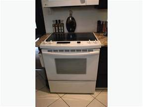 kitchenaid superba flat top stove in white south
