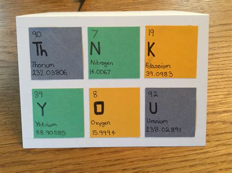 thank you letter to chemistry thank you card for chemistry teachers card ideas