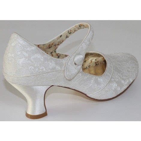 Monsoons Florence Vintage Inspired Court Shoes by Esta Ivory Lace Vintage Wedding Shoes Shoes