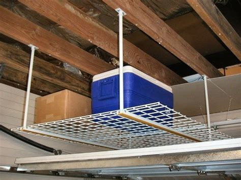 garage ceiling storage ceiling storage overhead storage rack with powertrak