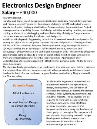 design engineer level 2 salary ppt potential route gcse product design a level product