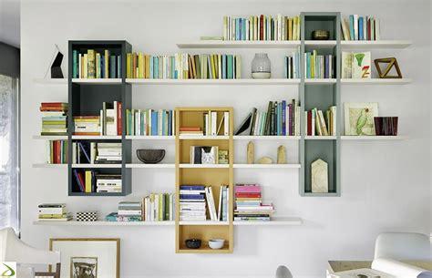 librerie a muro sospese libreria soggiorno a muro raffaello arredo design
