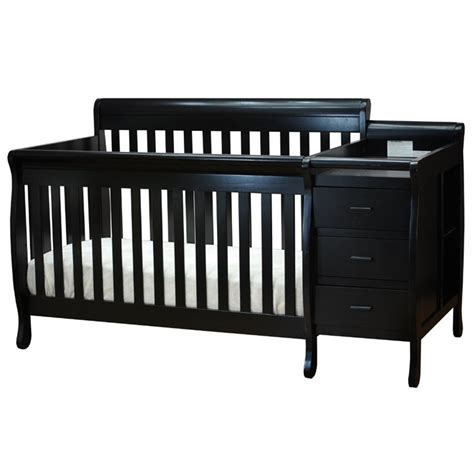Black Convertible Crib Athena 3 In 1 Convertible Crib In Black 515b
