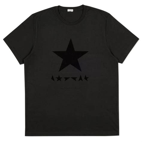 Bowie Shirt In Grey paul smith for david bowie black blackstar print t