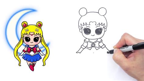cute and simple sailor moon how to draw sailor moon and easy