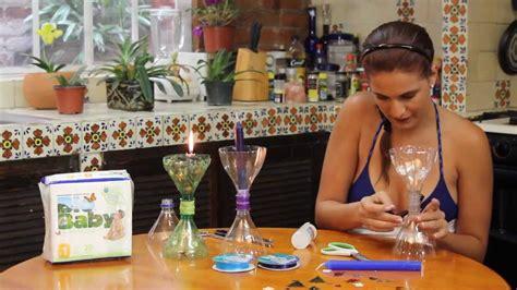 candelabros en botellas plasticas candelabro navide 241 o con botellas pet youtube
