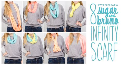 8 Cool Ways To Wear A Scarf by 8 Ways To Wear Sugar Bruno Infinity Scarfs Shop