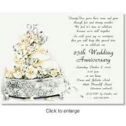 wording for 25th wedding anniversary invitations 25th wedding anniversary invitation wording vertabox
