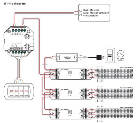 dali lighting wiring diagram dali dimming wiring