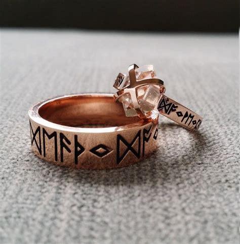 Eheringe Nordisch by Rustikale Herkimer Diamant Verlobungsring Nordischen Runen