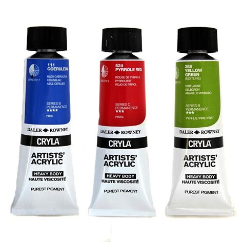 acrylic paints cryla artists acrylic paint craftyarts co uk