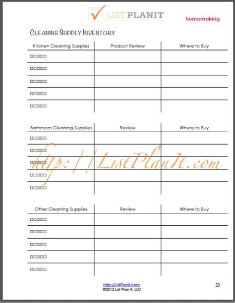 janitorial supply list template the l i s t this week a house a home get a free