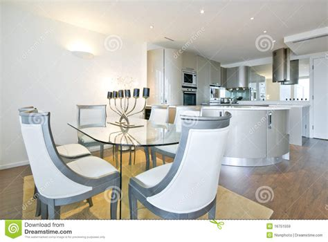 ultra modern dining room lighting home design ideas ultra modern designer kitchen with dining room stock image