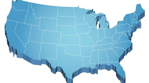 usa map outline with states usa map 3d free